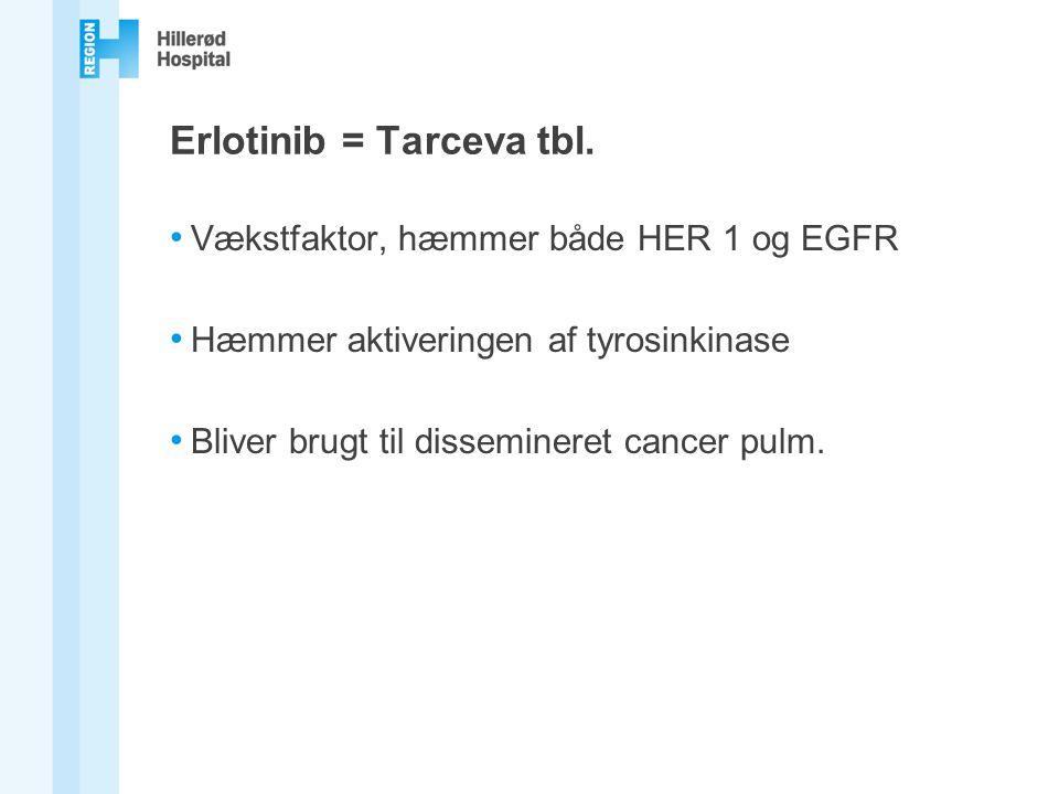 Erlotinib = Tarceva tbl.