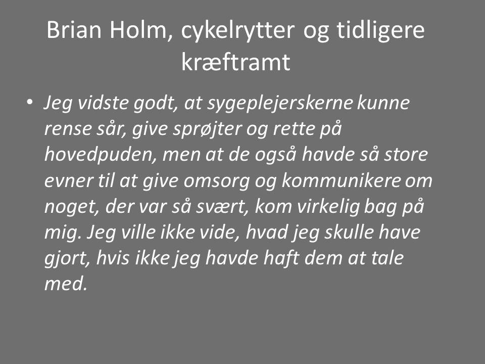 Brian Holm, cykelrytter og tidligere kræftramt