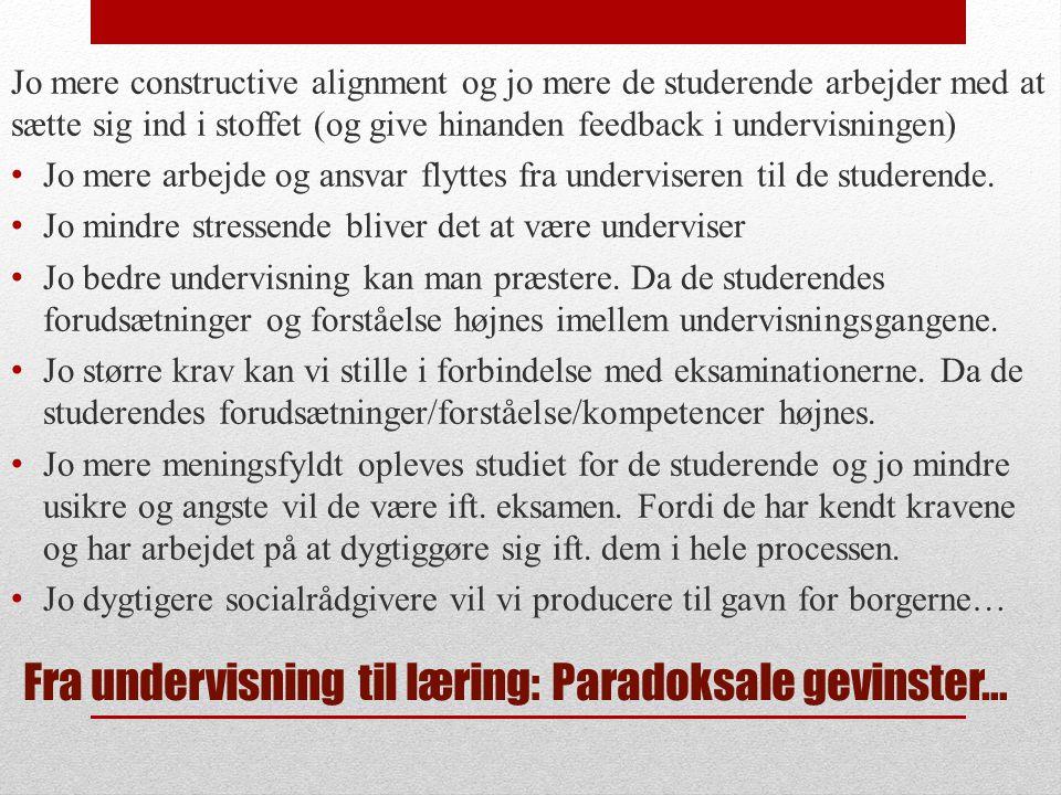 Fra undervisning til læring: Paradoksale gevinster…