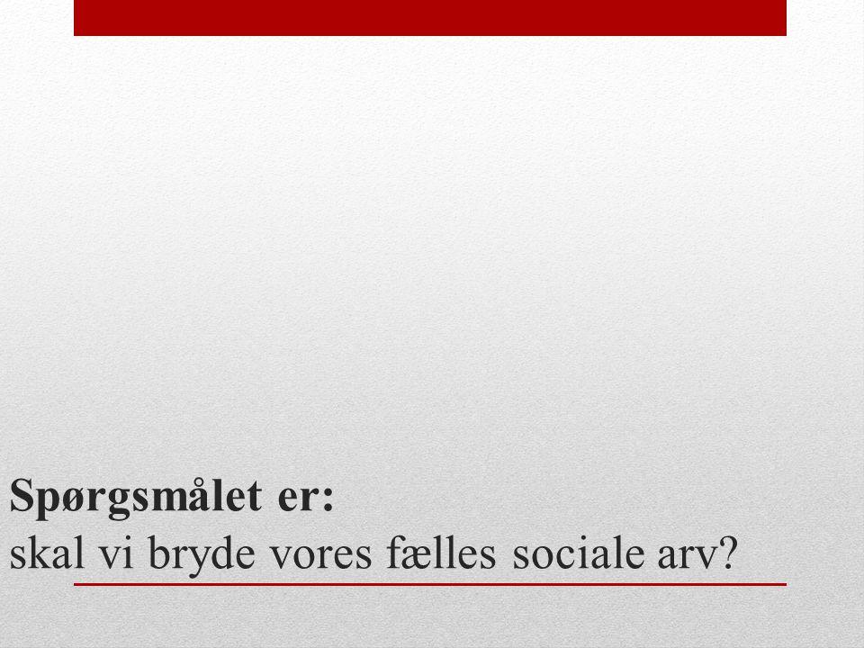 Spørgsmålet er: skal vi bryde vores fælles sociale arv