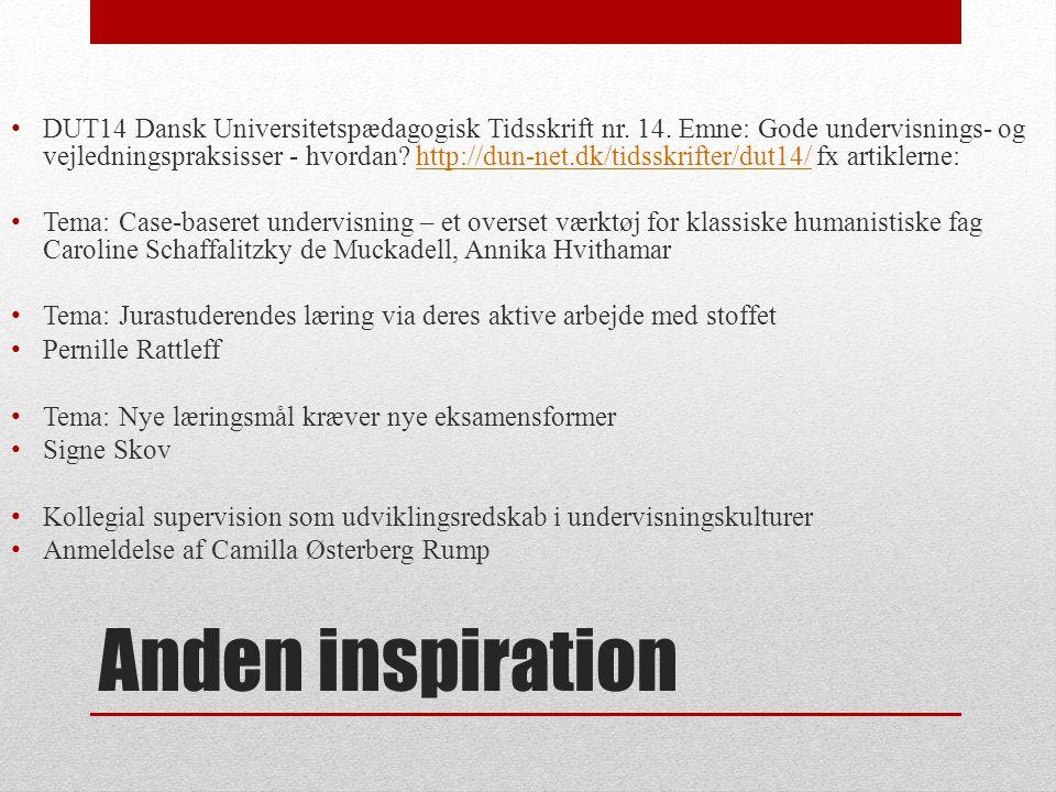 DUT14 Dansk Universitetspædagogisk Tidsskrift nr. 14