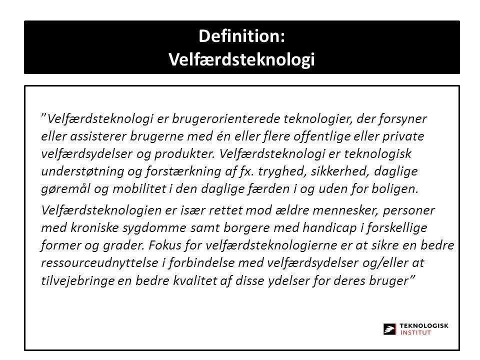 Definition: Velfærdsteknologi