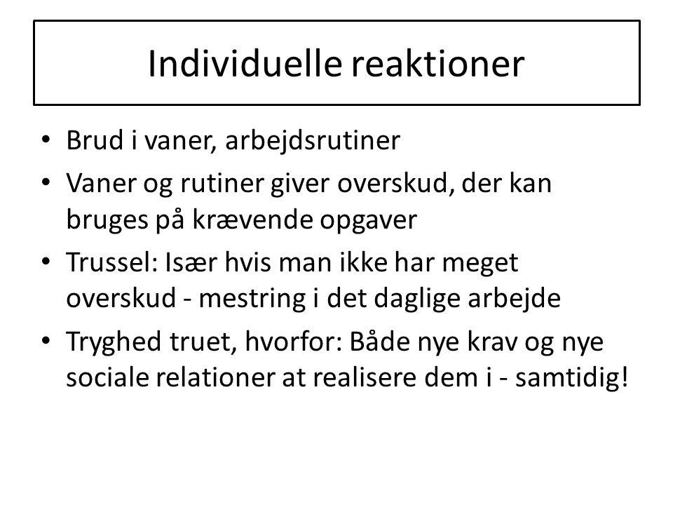 Individuelle reaktioner