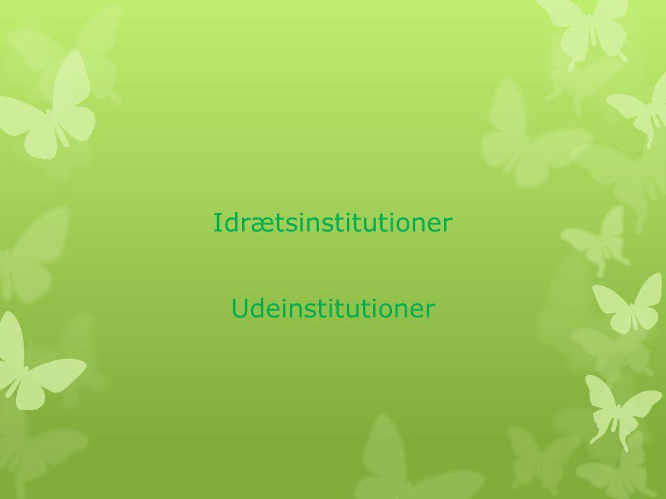 Idrætsinstitutioner Udeinstitutioner