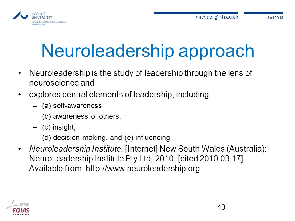 Neuroleadership approach