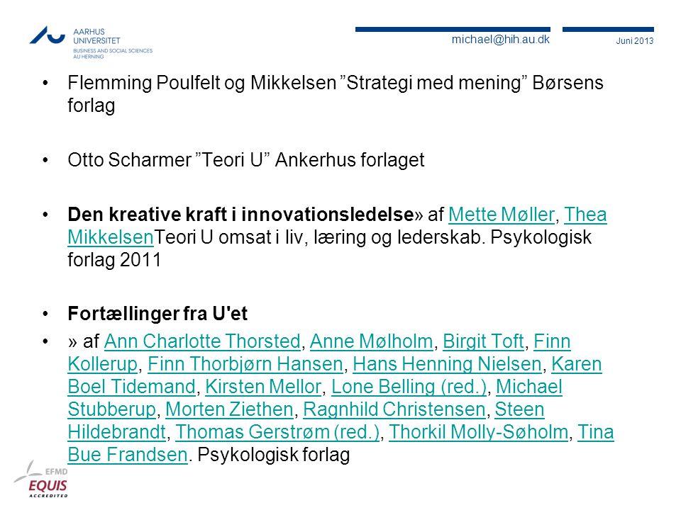Flemming Poulfelt og Mikkelsen Strategi med mening Børsens forlag