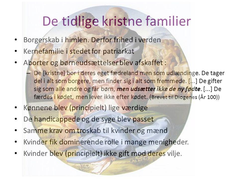 De tidlige kristne familier