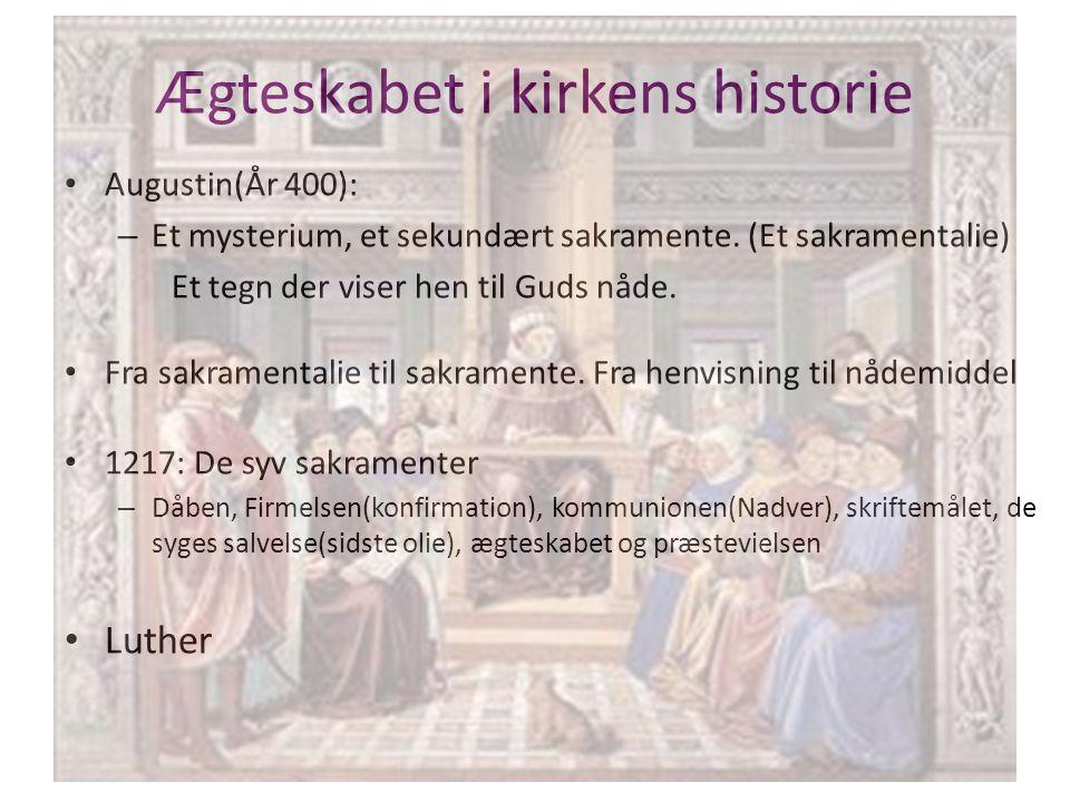 Ægteskabet i kirkens historie