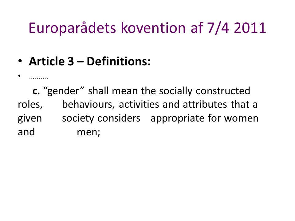 Europarådets kovention af 7/4 2011