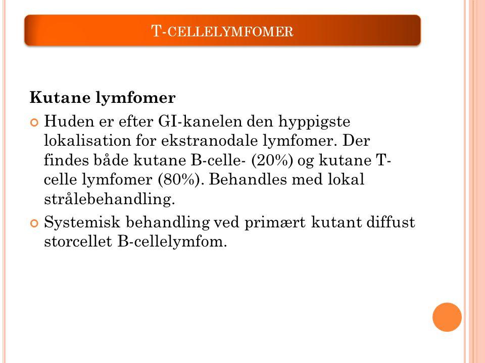 T-cellelymfomer Kutane lymfomer.