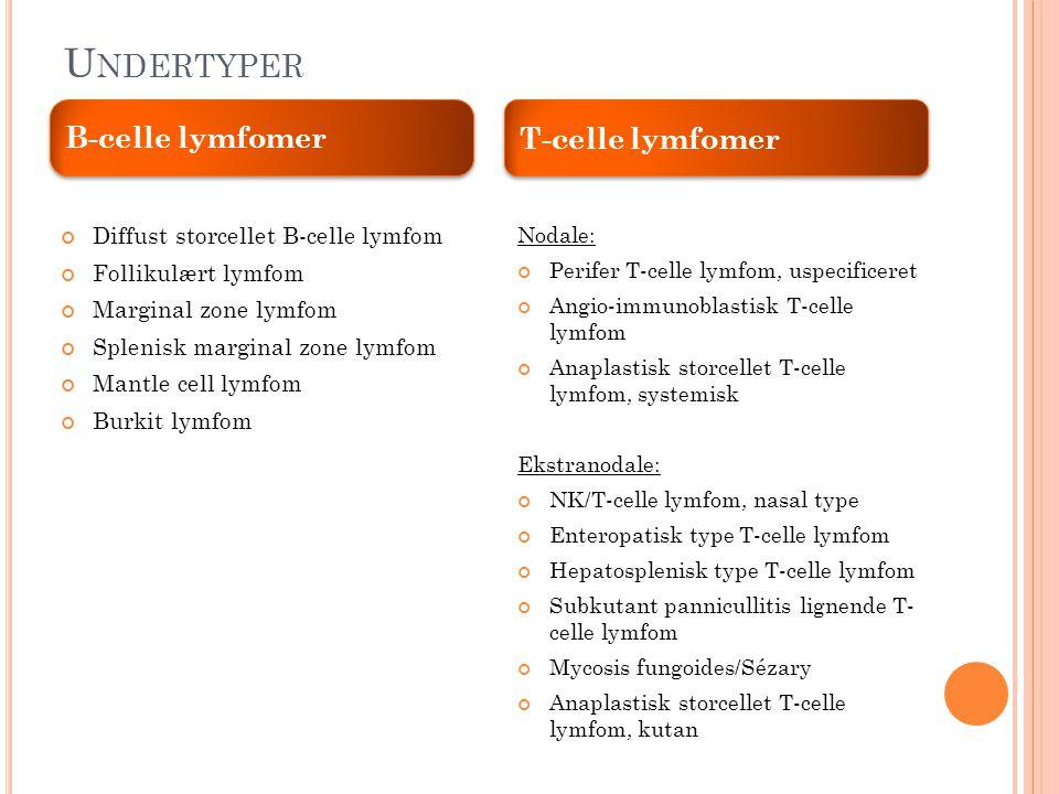 Undertyper B-celle lymfomer T-celle lymfomer