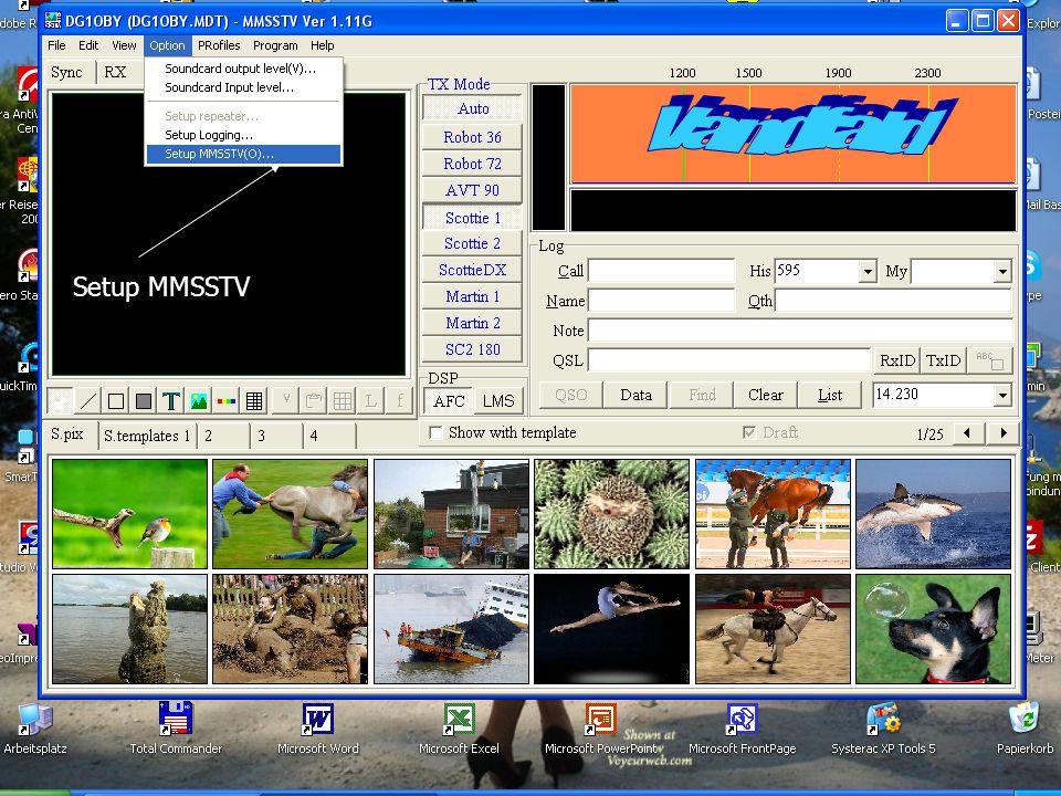Vandfald Setup MMSSTV