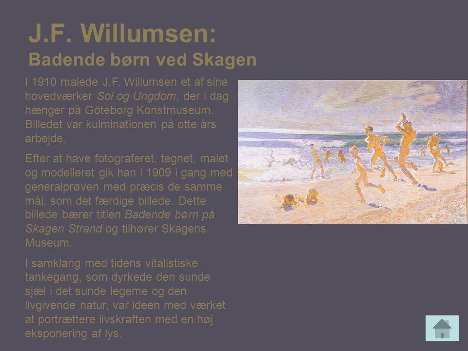 J.F. Willumsen: Badende børn ved Skagen