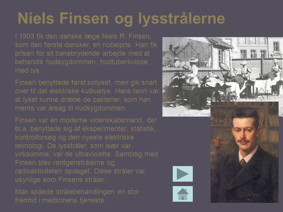 Niels Finsen og lysstrålerne