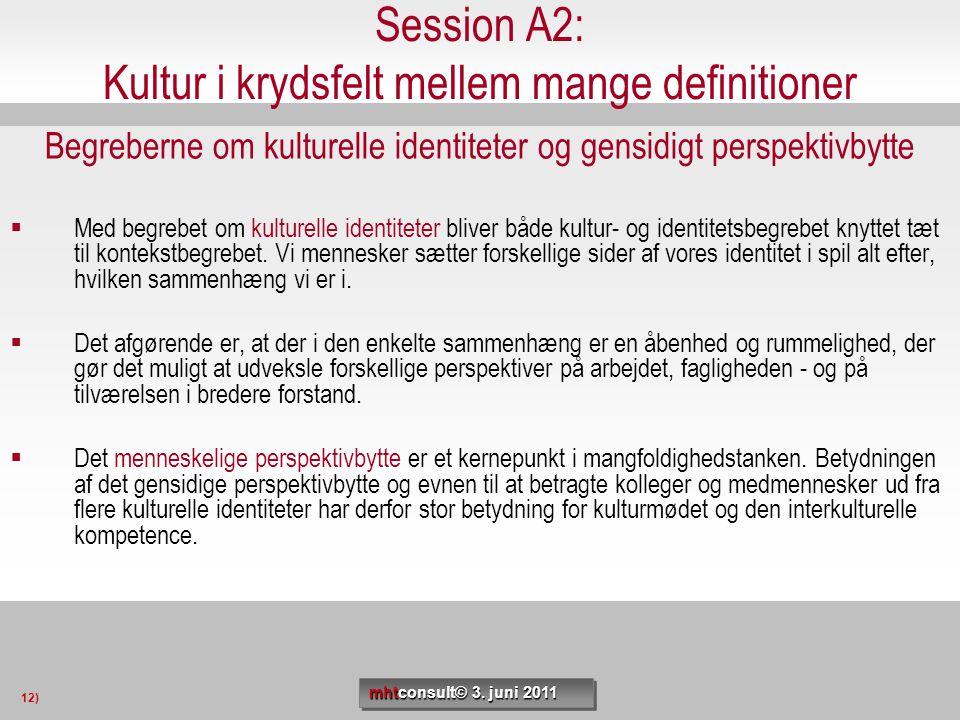 Session A2: Kultur i krydsfelt mellem mange definitioner