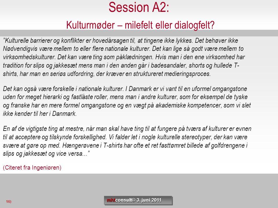 Session A2: Kulturmøder – milefelt eller dialogfelt