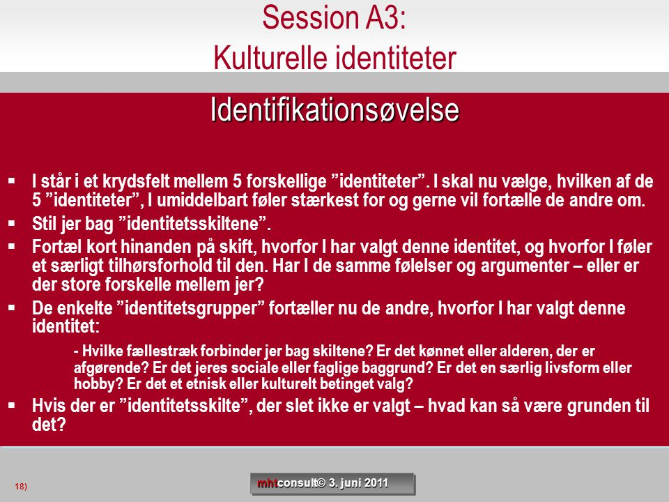 Session A3: Kulturelle identiteter