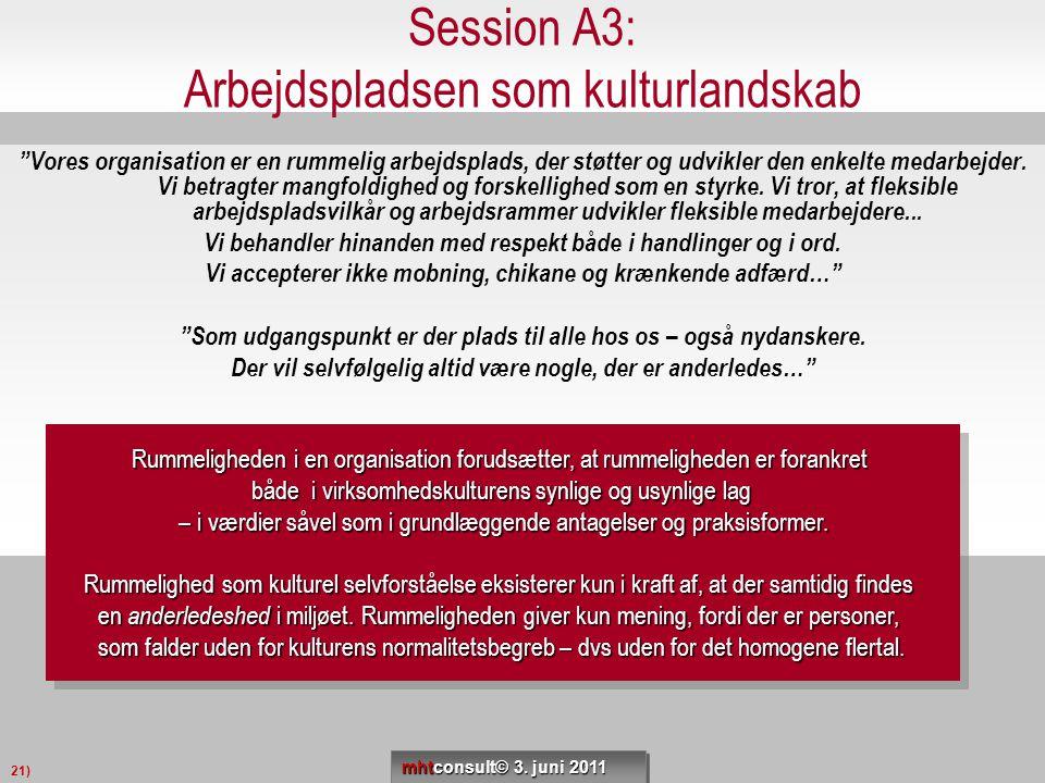 Session A3: Arbejdspladsen som kulturlandskab