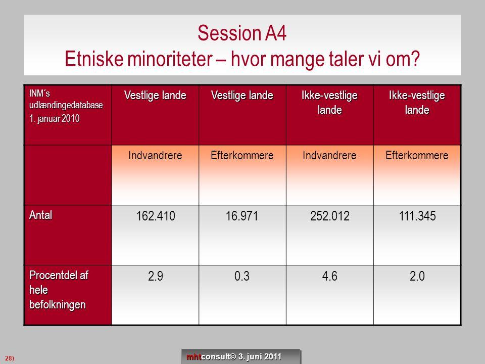 Session A4 Etniske minoriteter – hvor mange taler vi om
