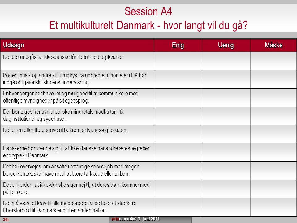 Session A4 Et multikulturelt Danmark - hvor langt vil du gå
