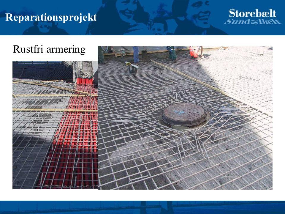 Reparationsprojekt Rustfri armering