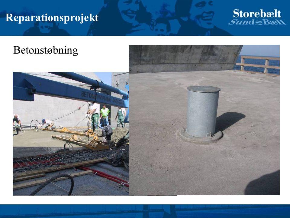 Reparationsprojekt Betonstøbning