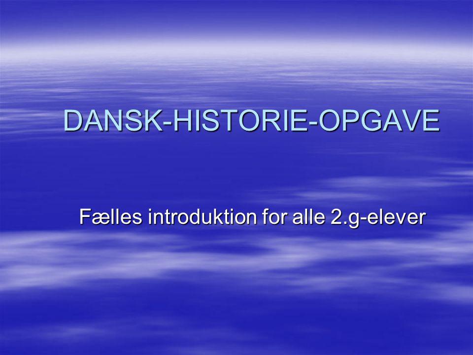 DANSK-HISTORIE-OPGAVE