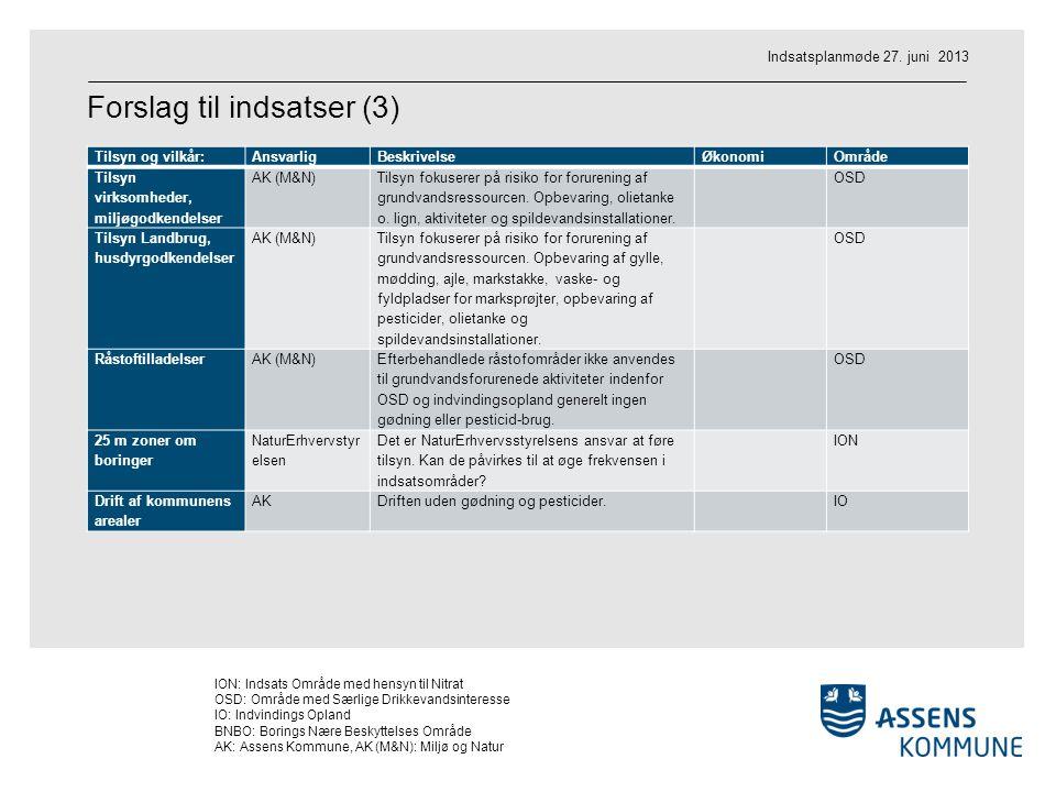 Forslag til indsatser (3)