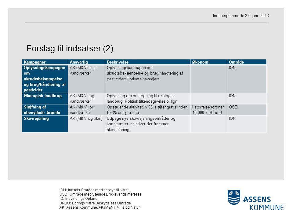 Forslag til indsatser (2)