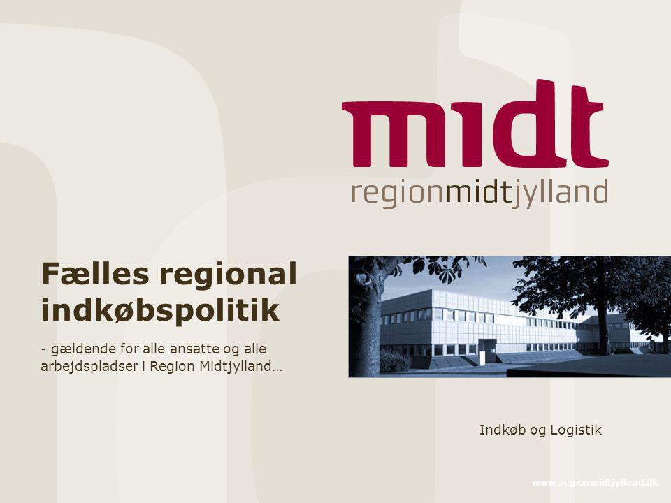 Fælles regional indkøbspolitik
