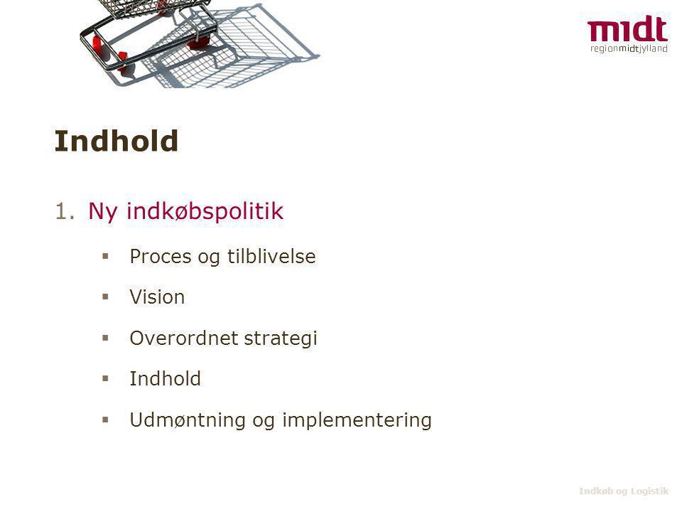 Indhold Ny indkøbspolitik Proces og tilblivelse Vision