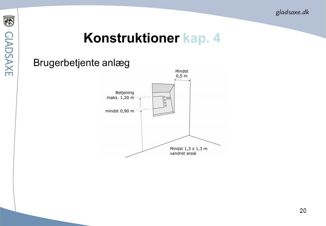 Konstruktioner kap. 4 Brugerbetjente anlæg