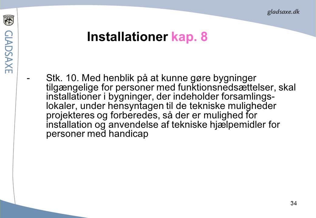 Installationer kap. 8