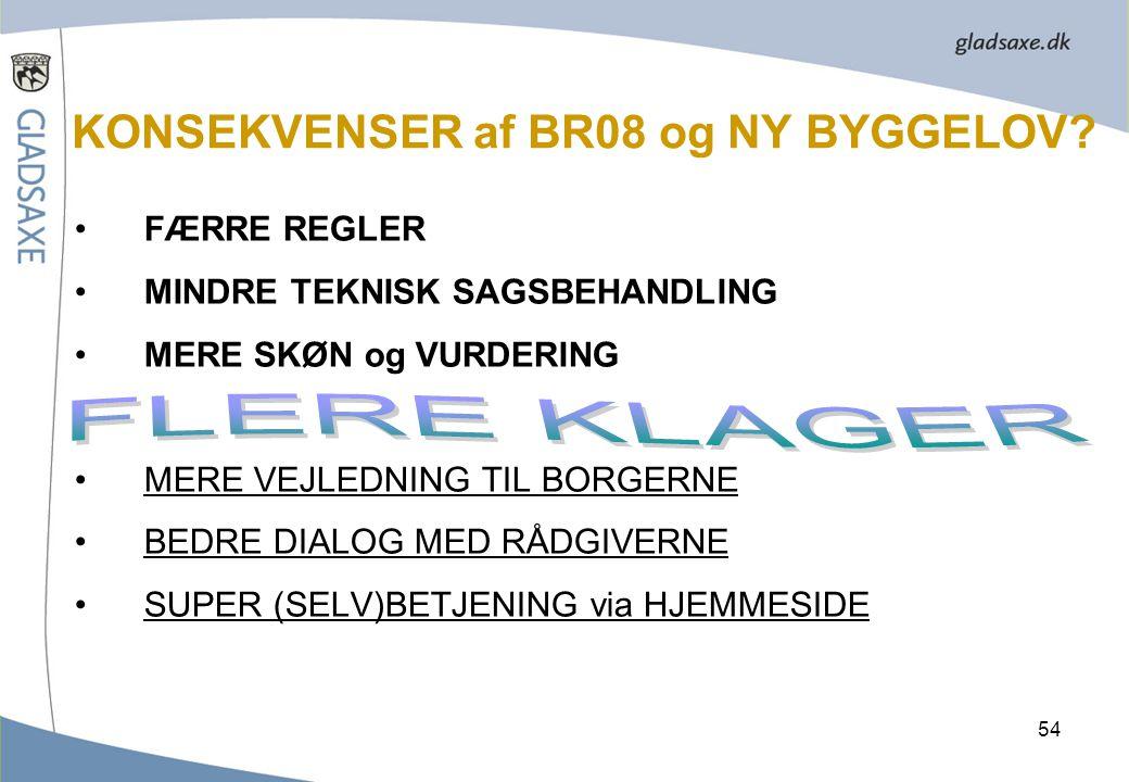 KONSEKVENSER af BR08 og NY BYGGELOV
