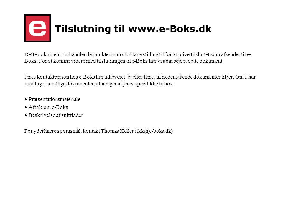 Tilslutning til www.e-Boks.dk
