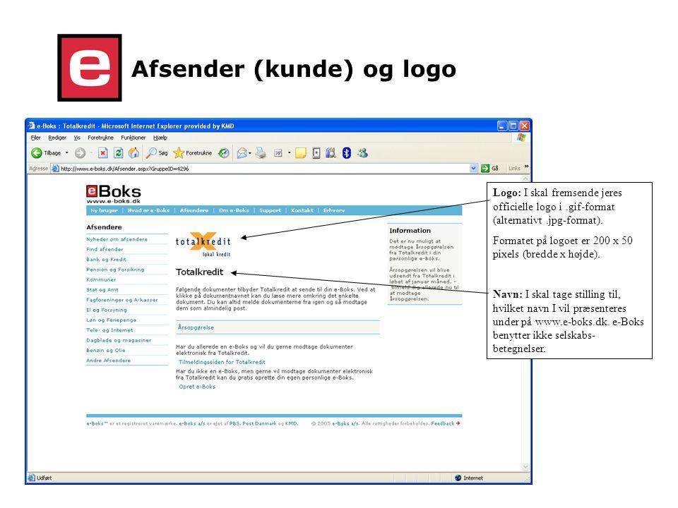 Afsender (kunde) og logo