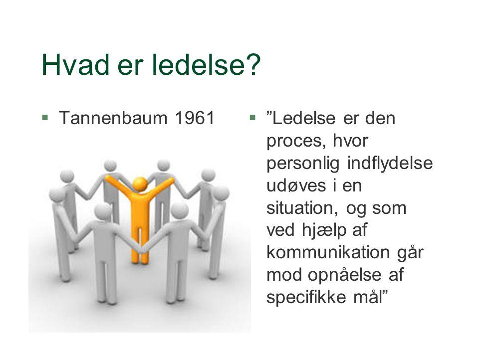 Hvad er ledelse Tannenbaum 1961