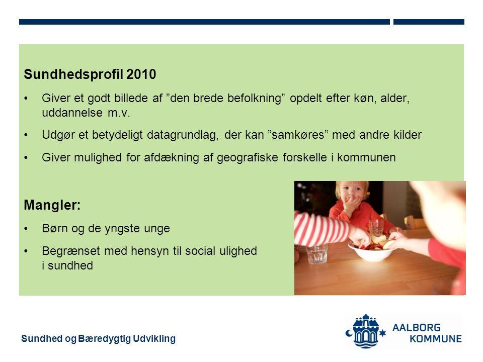 Sundhedsprofil 2010 Mangler: