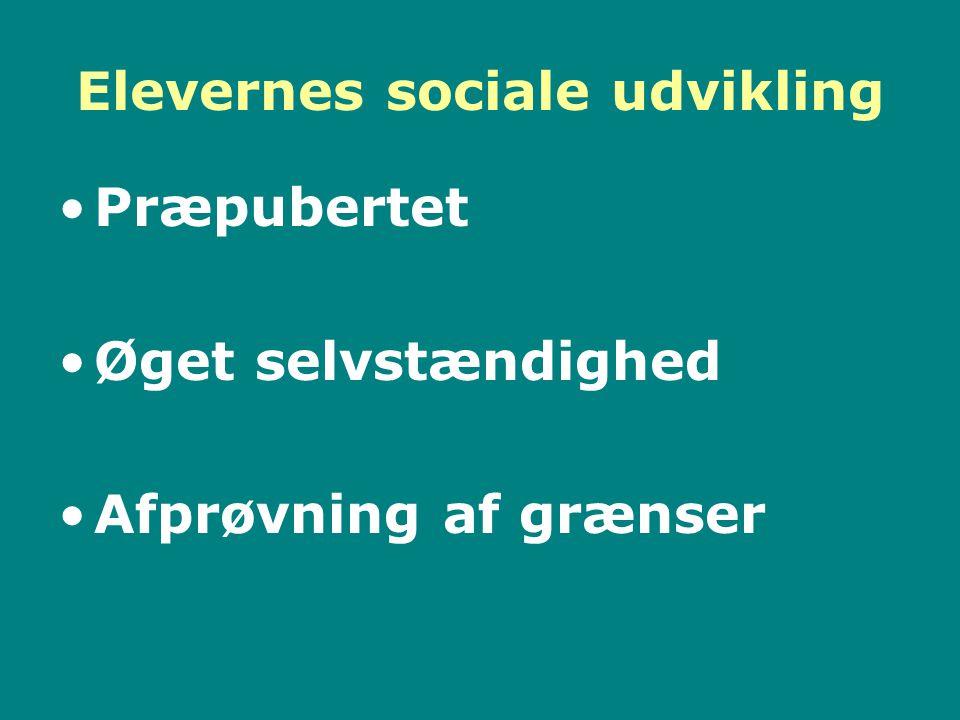 Elevernes sociale udvikling