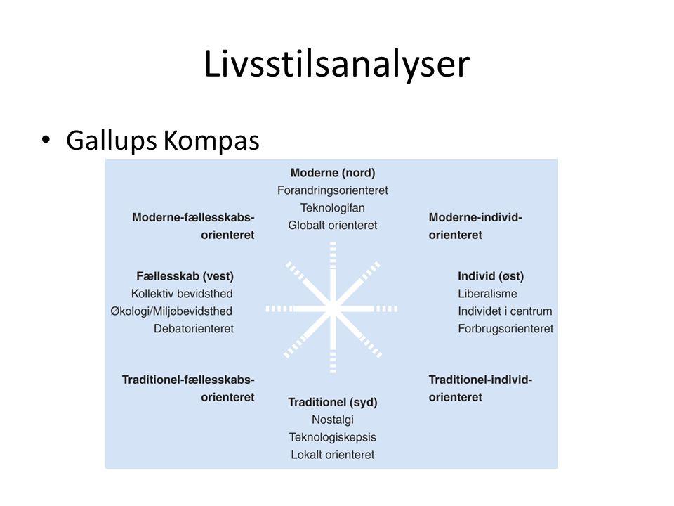 Livsstilsanalyser Gallups Kompas