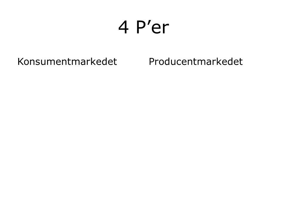 4 P'er Konsumentmarkedet Producentmarkedet