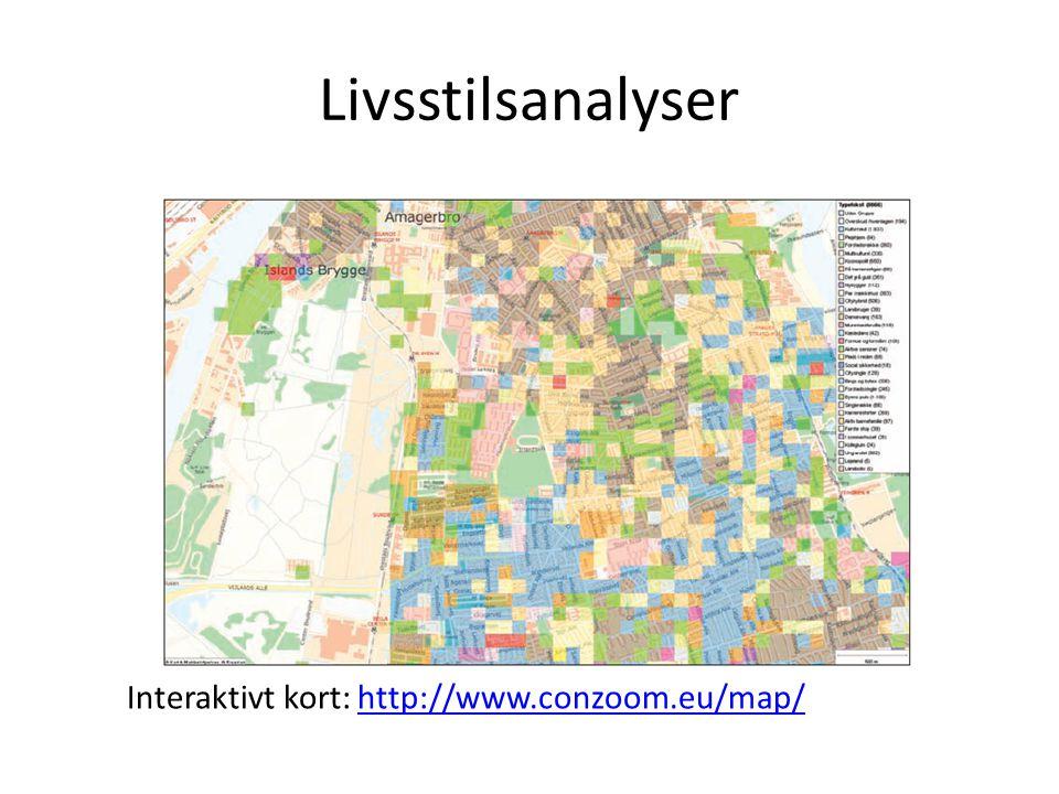 Livsstilsanalyser Interaktivt kort: http://www.conzoom.eu/map/