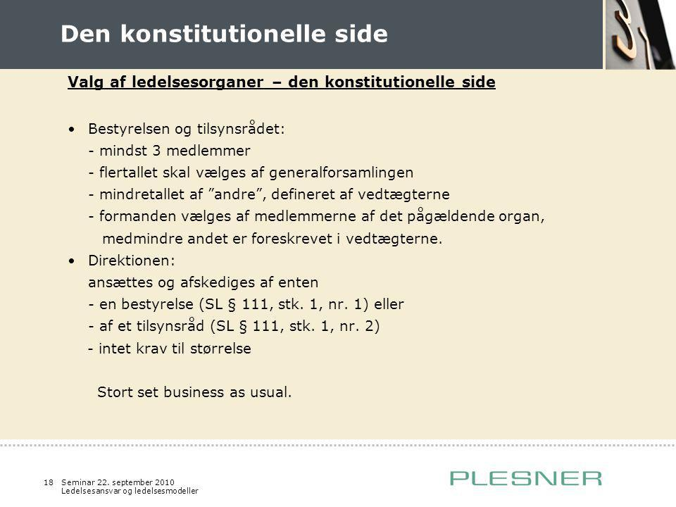 Den konstitutionelle side