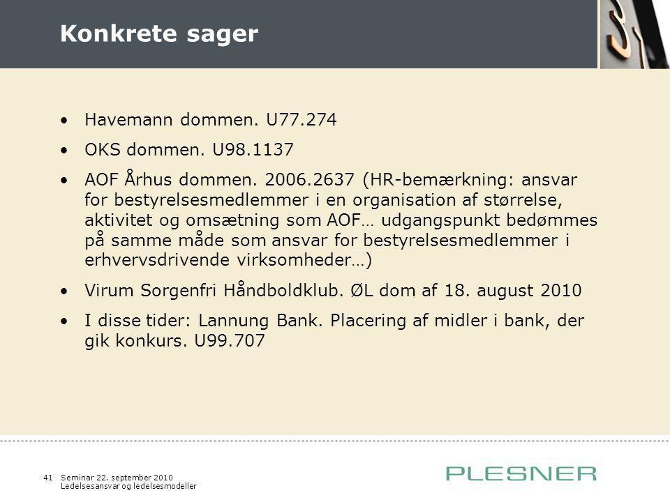 Konkrete sager Havemann dommen. U77.274 OKS dommen. U98.1137