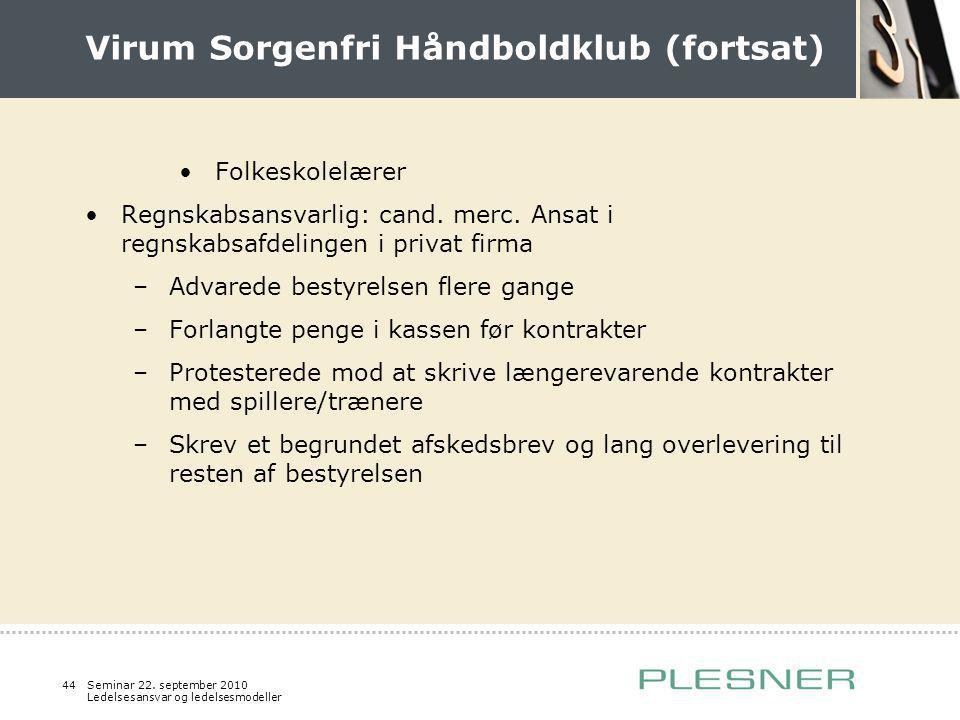 Virum Sorgenfri Håndboldklub (fortsat)