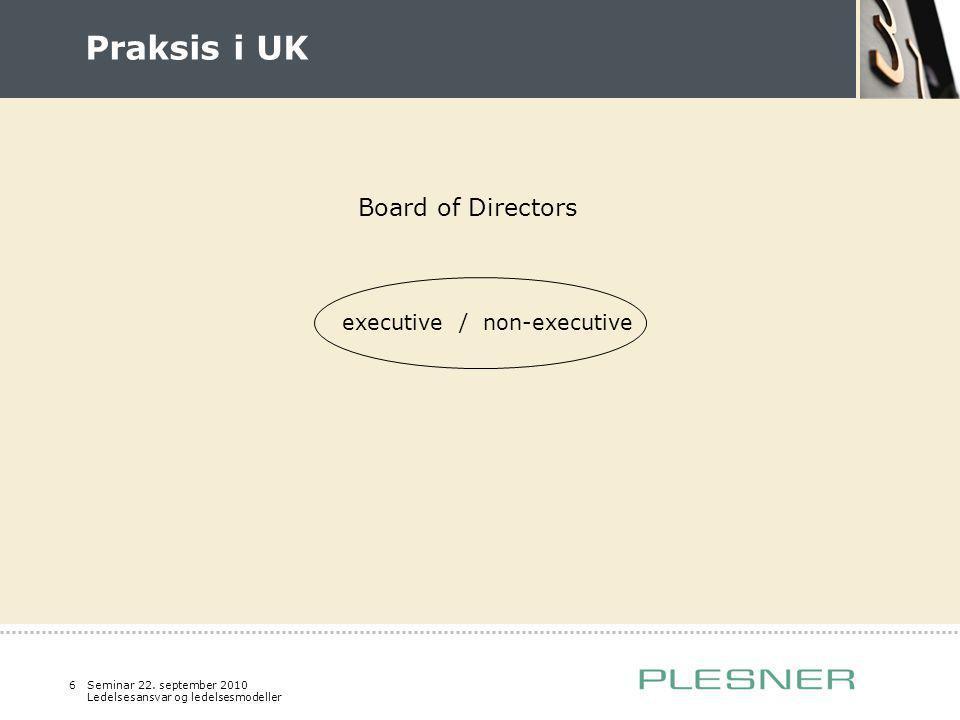 executive / non-executive