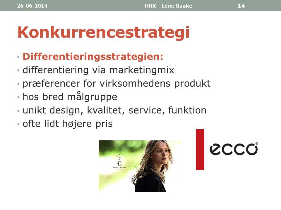 Konkurrencestrategi Differentieringsstrategien:
