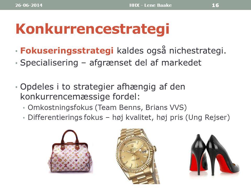 Konkurrencestrategi Fokuseringsstrategi kaldes også nichestrategi.