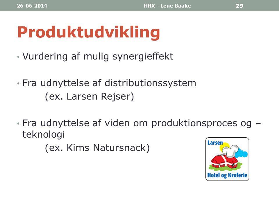 Produktudvikling Vurdering af mulig synergieffekt
