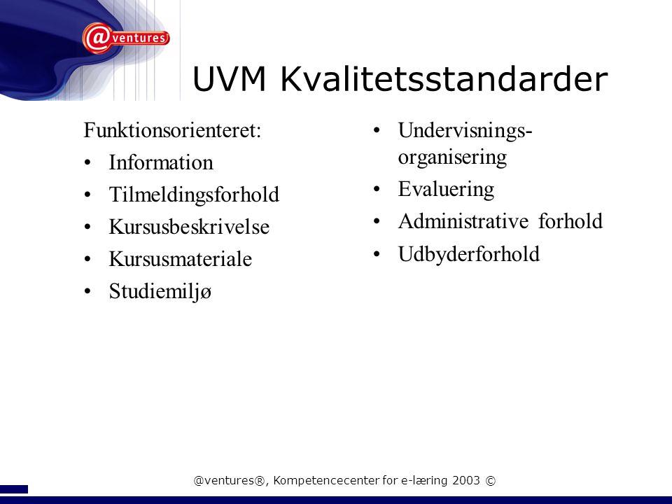 UVM Kvalitetsstandarder